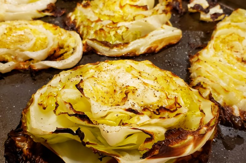 butter roasted cabbage